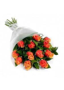 Стандартный букет из оранжевых роз