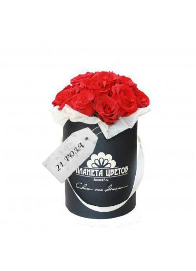 Моно коробка 21 роза