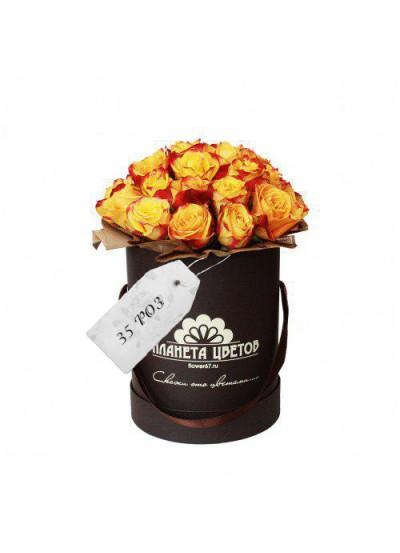 Моно коробка 35 роз