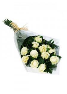 Стандартный букет из белых роз