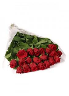 Большой букет из красных роз