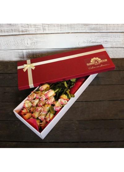 Коробка 21 роза